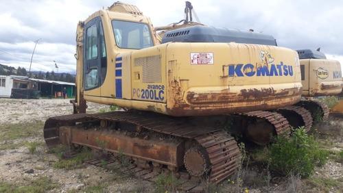 excavadora komatsu pc 200lc - 6le año 1997