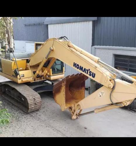 excavadora komatsu pc200 con solo 400hs financio  maquinasjm