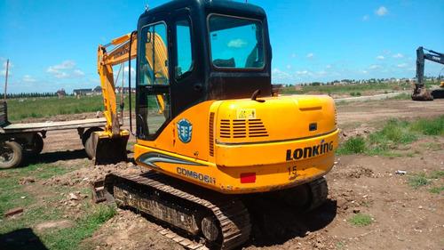 excavadora lonking cdm6065 de 6tn año 2015