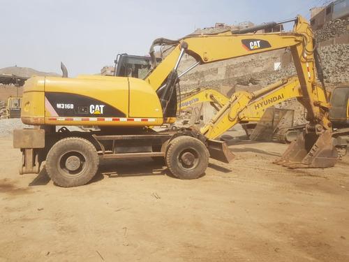 excavadora m316d  2010 circuito auxiliar y acople rápido