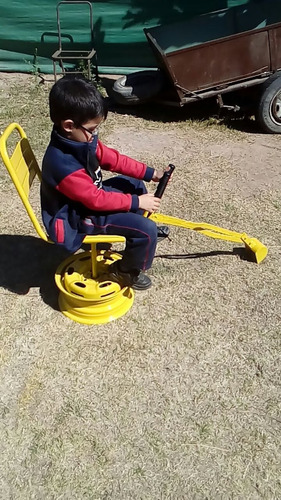 excavadora manual de niños