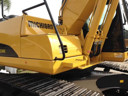 excavadora michigan orugas 220hp cummins 1 mt cubico nueva