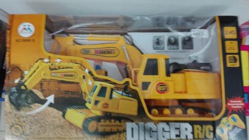 excavadora rc- retroexcavadoras camiones radio control