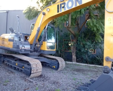 excavadora sobre oruga iron xcmg xe150c motor cummins
