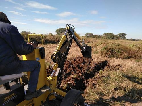 excavadora vial retro