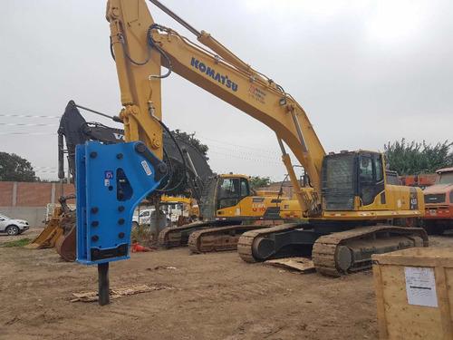 excavadoras,cargadores,martillos hidráulicos y rock drill