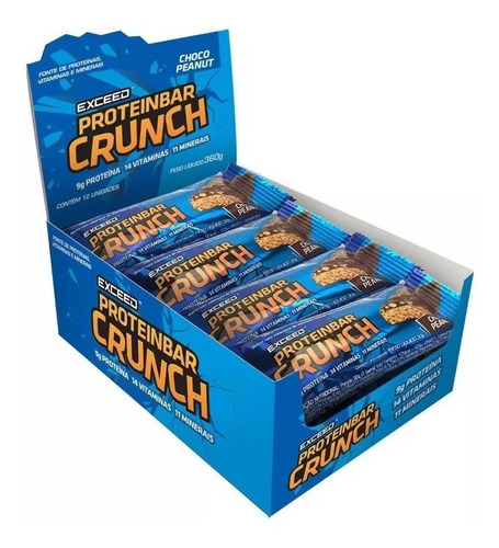 exceed proteinbar crunch c/12 barras advanced nutrition