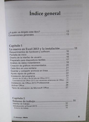 excel 2013 curso practico - alfaomega