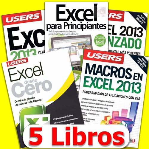 excel: 5 libros (desde cero hasta macros) pdf