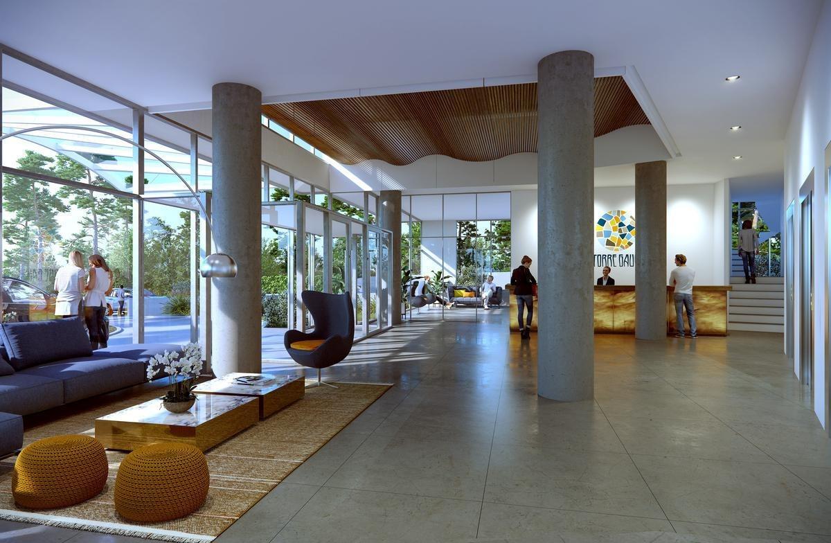 excelente 2 ambientes en la exclusiva torre gaudí  punta del este