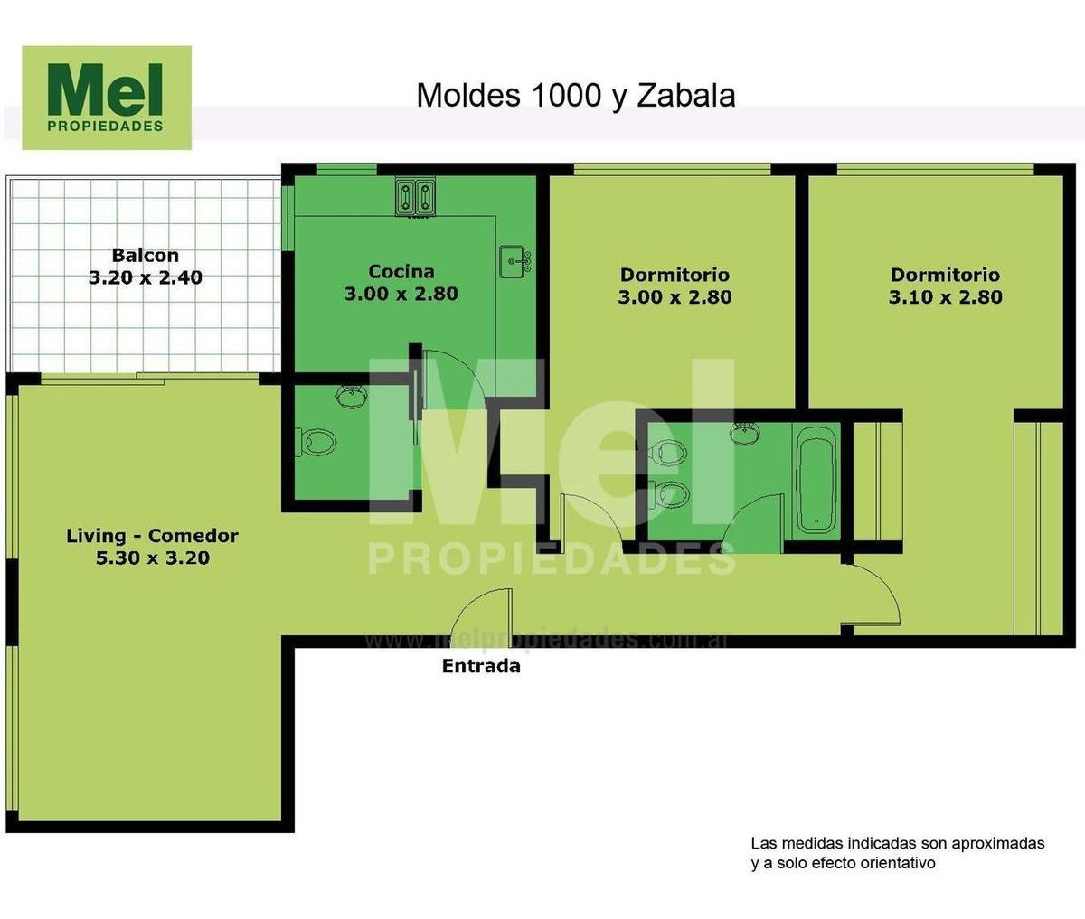 excelente 3 ambientes piso alto con cochera fija cubierta