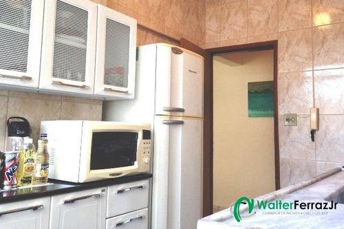 excelente apartamento 1 dormitório com 2 vagas. - 1284