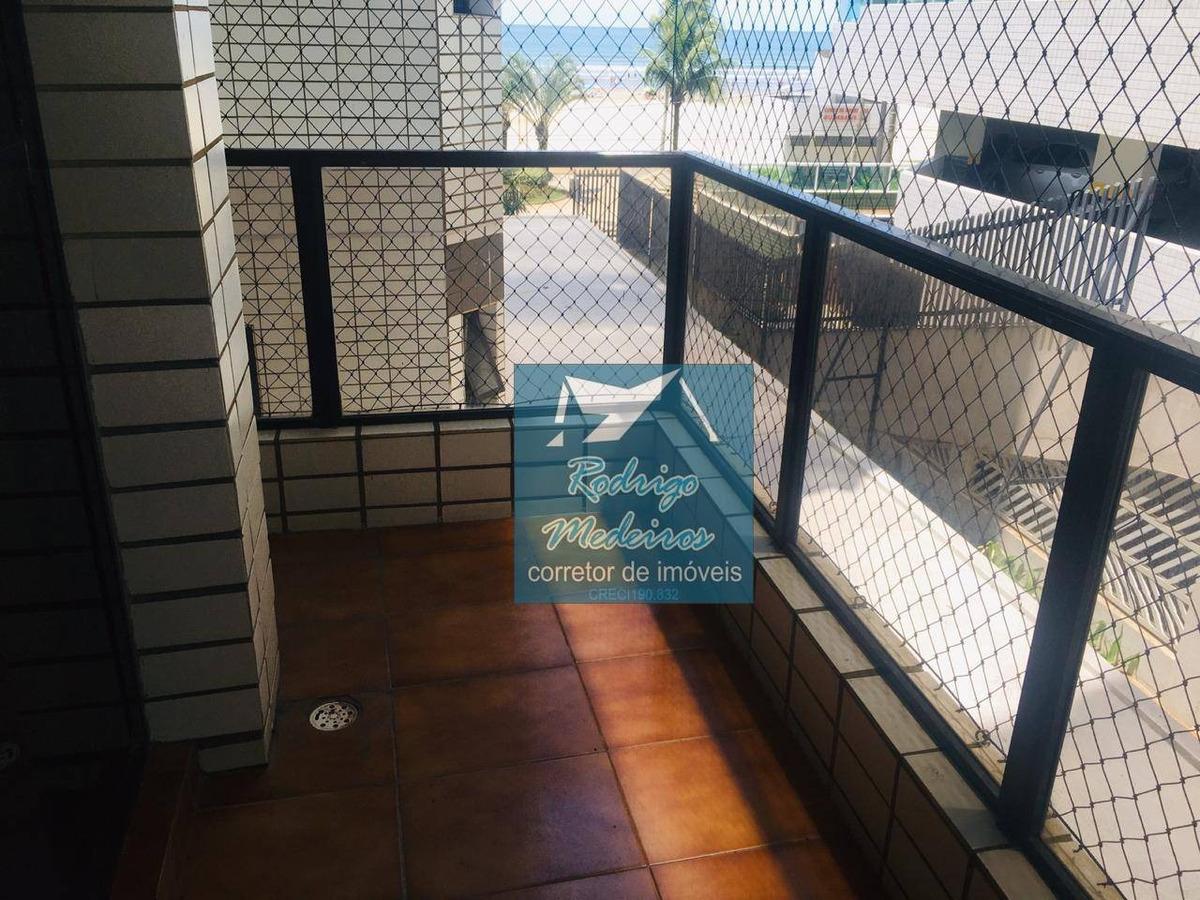excelente apartamento 2 dormitórios em praia grande frente mar - ap0455