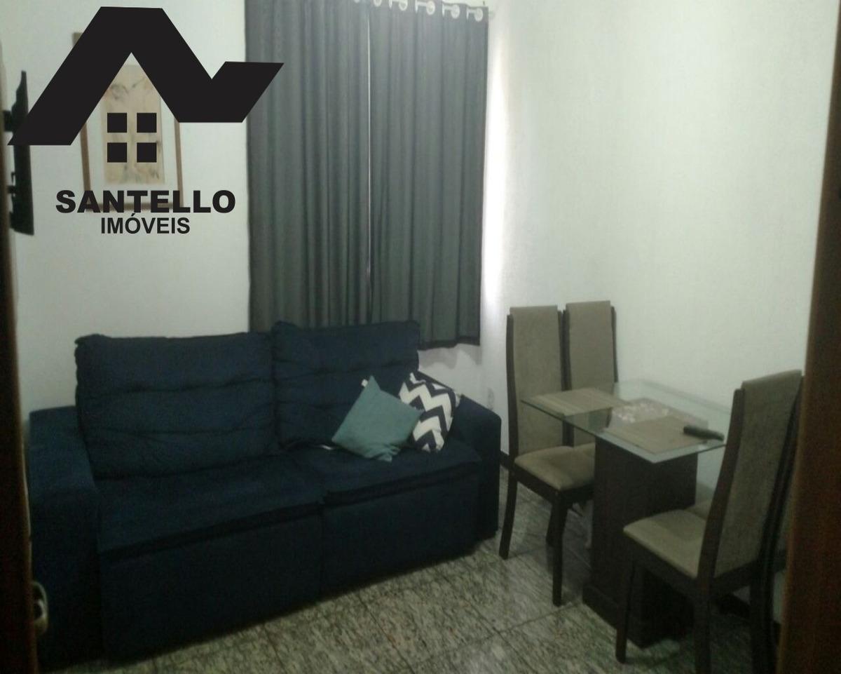 excelente apartamento 2 quartos, lazer, garagem e no miolo do alcântara - apenas r$195.000 - ap00034 - 33147411