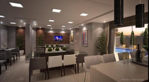 excelente apartamento, 2 quartos sendo uma suite, novo, último andar, entregue em setembro/2019, com 02 vagas de garagem. edifício com uma ótima área de festas e piscina. - 3578617
