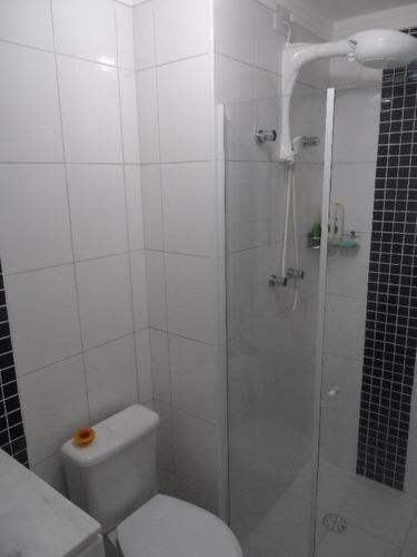 excelente apartamento 3 dormitórios com lazer - astúrias - guarujá - ap0243