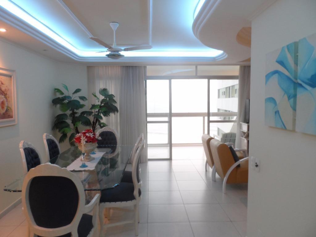 excelente apartamento 3 dormitórios frente ao mar com lazer - astúrias - guarujá - ap1254
