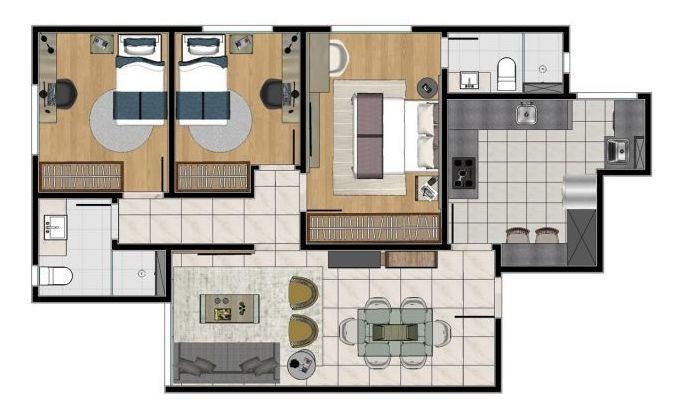 excelente apartamento 3 quartos no sagrada família - 931