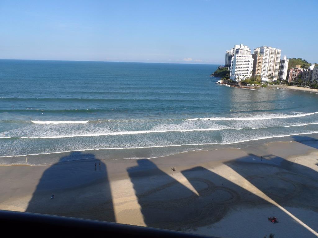 excelente apartamento 3 suítes frente mar na praia dos astúrias - ap0876