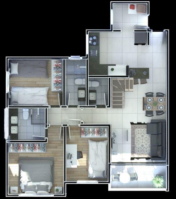 excelente apartamento 3qts no bairro sagrada familia - 6471