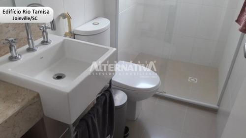 excelente apartamento alto padrão mobiliado - joinville sc - 9169