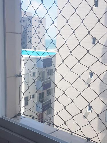 excelente apartamento com 54 m² de área útil, 1 dormitório, lazer completo, vista para o mar, 50 metros da praia - mirim - praia grande - sp j1m76a - j1m76a - 33813926
