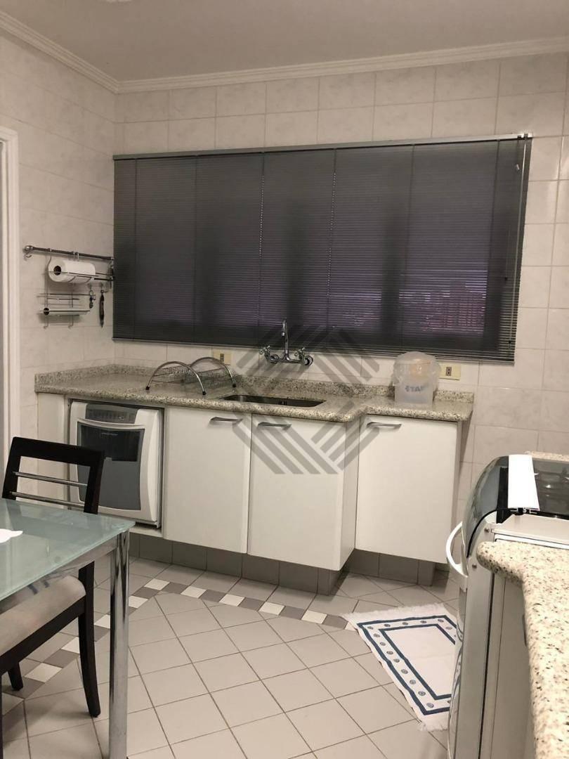 excelente apartamento de 140m2 , todo mobiliado, na região central - ap7880