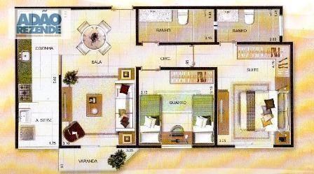 excelente apartamento de frente, com vista indevassável.. - ap0852