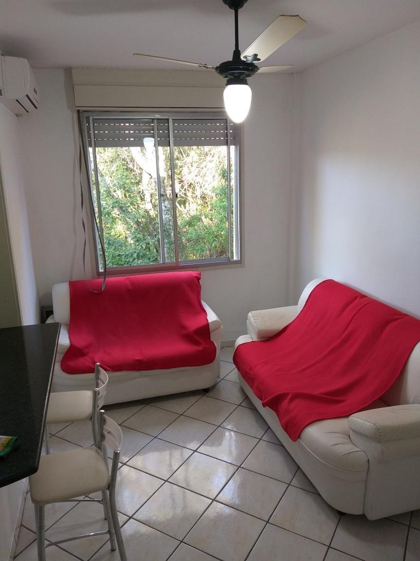 excelente apartamento de um dormitório semi mobiliado