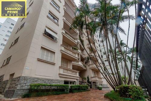 excelente apartamento em local nobre de higienópolis, a 50 metros da praça vilaboim. - eb81677