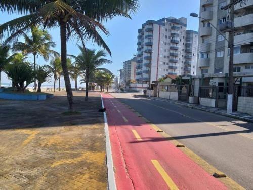 excelente apartamento frente ao mar, mongaguá, ref.c2342 l c