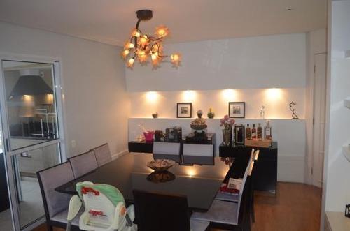 excelente apartamento na chácara santo antônio, 134 m2, 2 vagas, lazer completo - ap0566