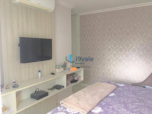 excelente apto com 4 dormitórios com 3 suítes à venda, 182 m² - vila ema - são josé dos campos/sp - ap1793