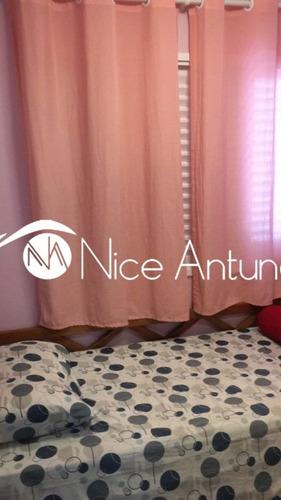 excelente apto com sacada envidraçada e cortina rolo,cozinha americana,sala e quartos em porcelana. - na5332