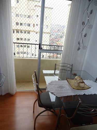 excelente apto residencial nova santo andré - palmares s.a - 620