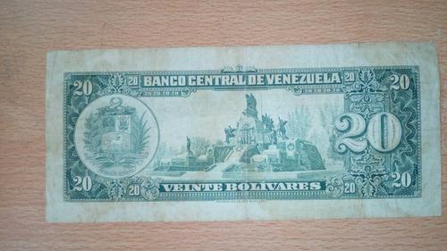 excelente billete 20 bs. año 1966