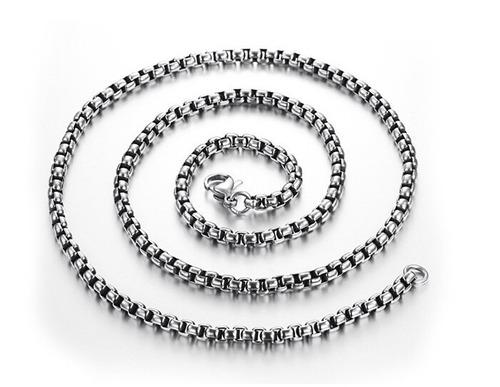 excelente cadena de acero inoxidable 70cm x 4mm