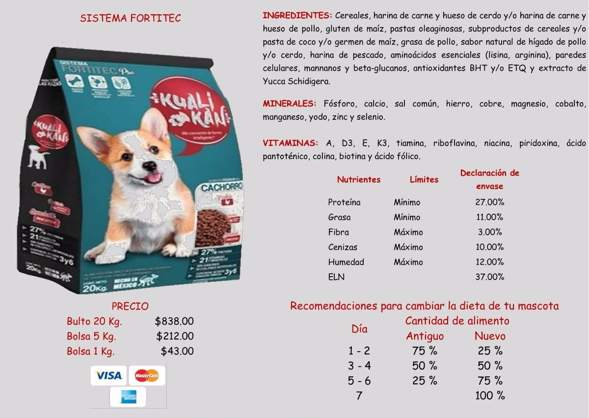 excelente calidad en alimento para perro - $ 986.00 en mercado libre