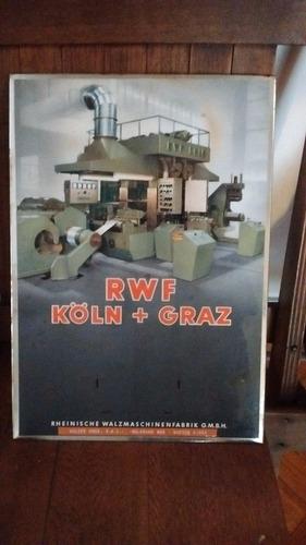 excelente cartel alemán vintage 1950s chapa imprenta