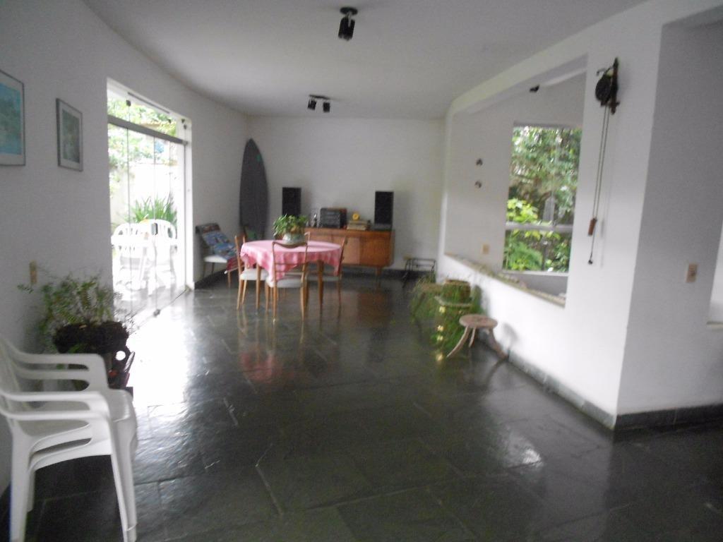 excelente casa 3 suítes com piscina - guaiuba - guarujá - ca0065