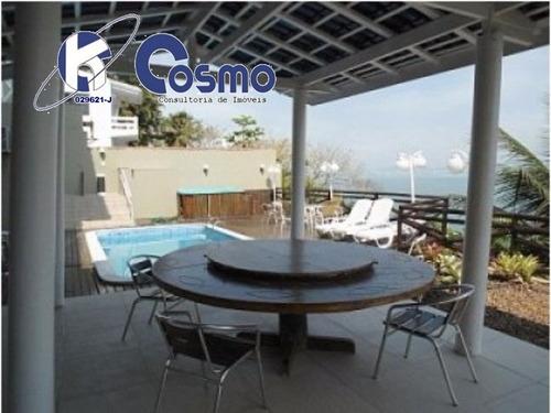 excelente casa, á venda,  no residencial península - guarujá, praia da enseada - ca00018 - 4243812