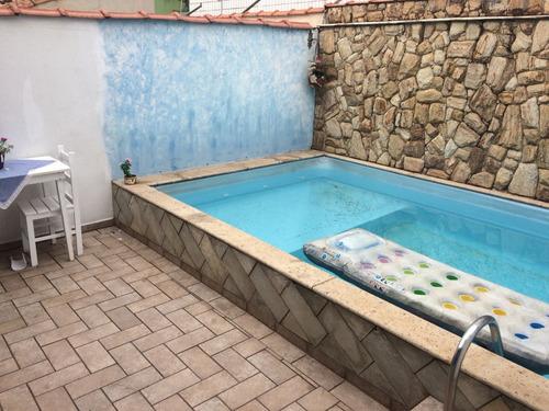 excelente casa c piscina churrasq  só 100 mts do mar ca 0108