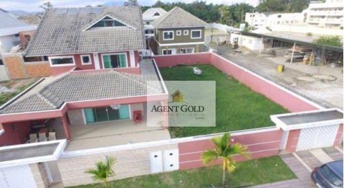 excelente casa com 05 quartos, próximo a avenida das américas - ca0223