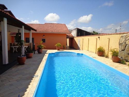 excelente casa com piscina em itanhaém, jardim cibratel 2