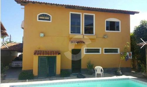 excelente casa com piscina próximo da praia de piratininga - ca1128