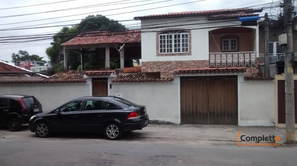 excelente casa duplex 5 quartos + 3 suítes - taquara - ca0007