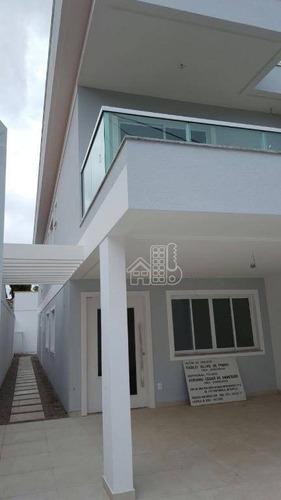 excelente casa duplex primrira locação 5 quartos , sendo 4 suites em piratininga - ca0948