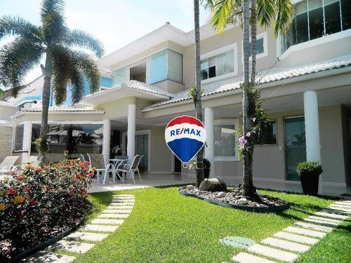 excelente casa residencial à venda, barra da tijuca, rio de janeiro. casa totalmente decorada, todos os imóveis incluso! - ca0042
