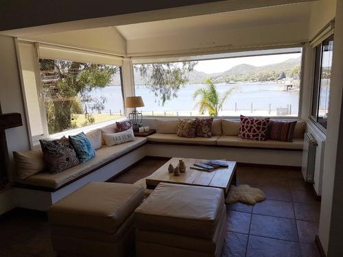 excelente casa v carlos paz, con costa directa al lago-2019