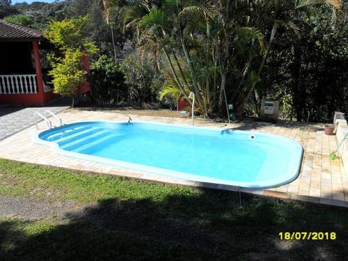 excelente chácara com piscina e lago cod: 3551